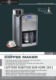 COFFEE MAKER CAFETIERE ROBOTISEE BOB HOME 2811