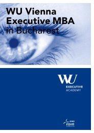 WU Vienna Executive MBA in Bucharest