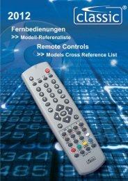 Fernbedienungen >>> Modellreferenzliste Remote Controls ...
