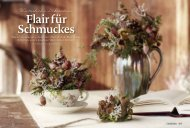 Winterliche Dekoration - flair Blumen
