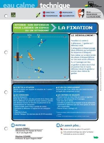La fixation - FFCK