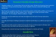 Promoter ( Kwality Group )Overview Awards Won