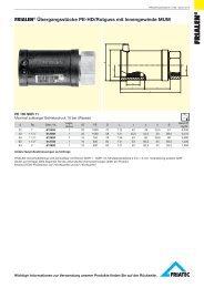FRIALEN® Übergangsstücke PE-HD/Rotguss mit Innengewinde MUM