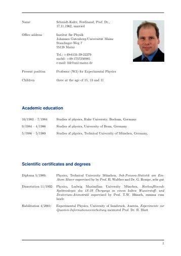 lebenslauf pdf quantenbitde - Lebenslauf De