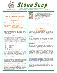 Annual Meeting and Pot Luck Harvest Celebration - Stearns Organic ...