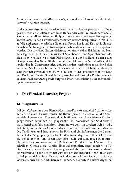 Digitale Literatur und Kunst: Blended Learning zu ästhetischen