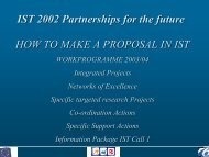 IST 2002 Partnerships for the future HOW TO MAKE A PROPOSAL ...