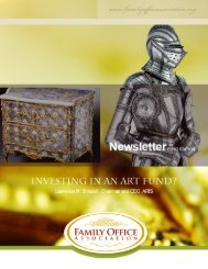 Investing in an art fund - the Family Office Association