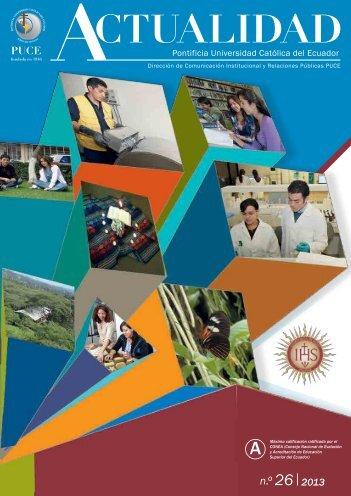 n.o 26 2013 - Pontificia Universidad Católica del Ecuador