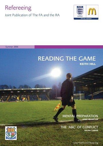 Refereeing READING THE GAME - The Football Association