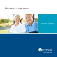 Maximize your clients' income - CI Investments
