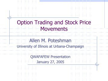 Option Trading and Stock Price Movements