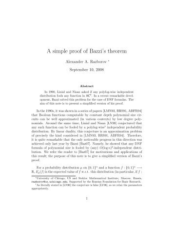 A simple proof of Bazzi's theorem