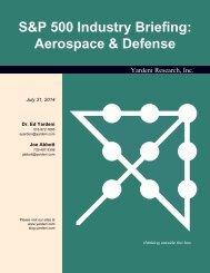 S&P 500 Industry Briefing: Aerospace & Defense - Dr. Ed Yardeni's ...