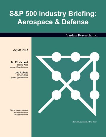 S&P 500 Industry Briefing: Aerospace & Defense - Dr. Ed Yardeni's ...