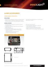 SCIENTIFIC LASERS LASER ACCESSORIES - InnoLight GmbH