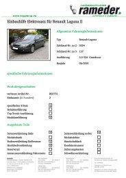 Einbauhilfe Elektrosatz für Renault Laguna II
