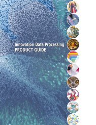 Innovation Data Processing PRODUCT GUIDE Innovation Data ...