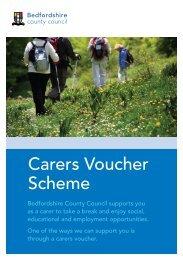 Carers Voucher Scheme - Bedfordshire County Council