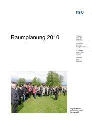 Raumplanung 2010 - FSU