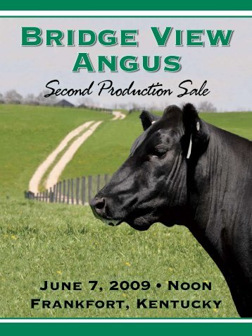 Second Production Sale - Angus Journal