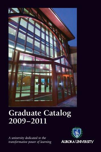 Grad Catalog 09-11.indd - Aurora University
