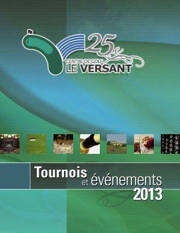 RESTAURATION et événements et événements 2013 - Le Versant