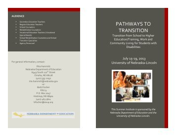 PATHWAYS TO TRANSITION - NDE Transition