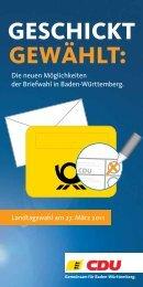 GEWÄHLT: GESCHICKT - CDU Baden-Württemberg