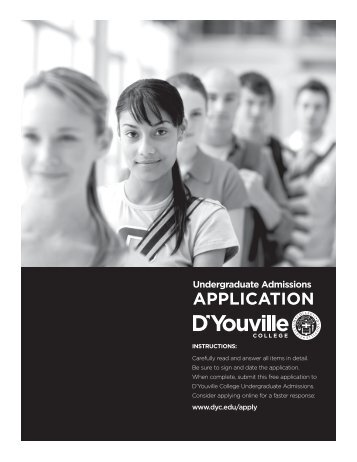 Download Application (PDF) - D'Youville College