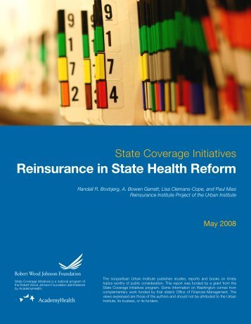 Reinsurance in State Health Reform - AcademyHealth