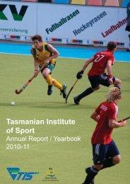 2010-11 - Tasmanian Institute of Sport