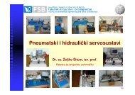 Pneumatski i hidraulički servosustavi - Katedra - FSB