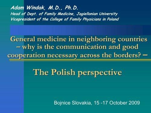 General medicine in neighboring countries