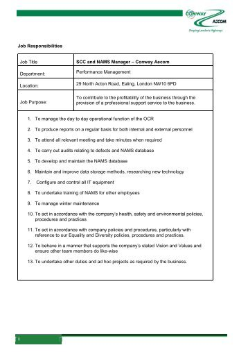 Download Job Description - Conway