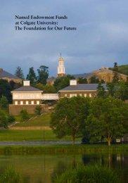 Named Endowment Funds at Colgate University: The ... - Alumni