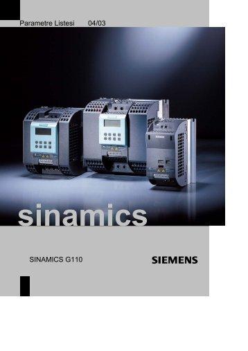 Parametre Listesi 04/03 SINAMICS G110 - Teknika Otomasyon