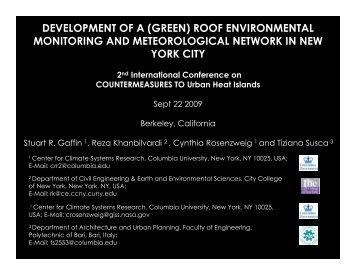 development of a (green) roof environmental monitoring
