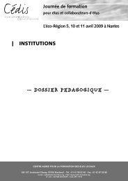— DOSSIER PEDAGOGIQUE — - Cédis Formation