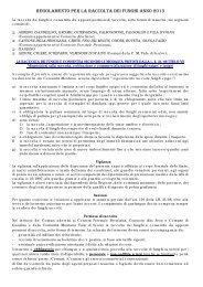 regolamento per la raccolta dei funghi anno 2013 - Comunità ...