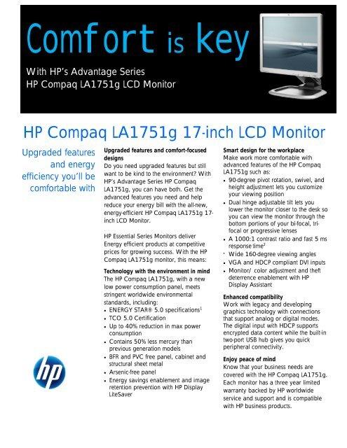 HP Compaq LA1751g 17-inch LCD Monitor - BCDVideo