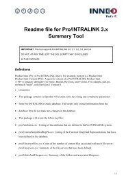 Readme file for Pro/INTRALINK 3.x Summary Tool - Inneo