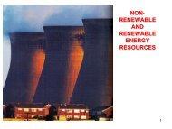 NON-RENEWABLE AND RENEWABLE ENERGY RESOURCES