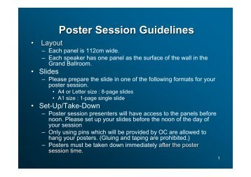 Poster Session Guidelines - APNOMS