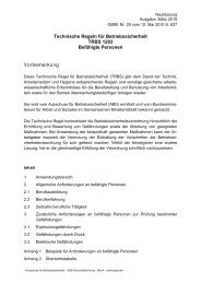Technische Regeln für Betriebssicherheit TRBS 1203 - beim AMBB