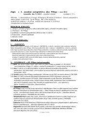Zápis z 3. zasedání zastupitelstva obce Přílepy v roce 2012