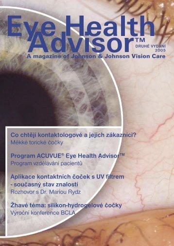 Bulletin Eye Health Advisor™ 2 - ACUVUE® Pro oční odborníky