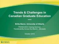 BARON - Graduate Education in Canada