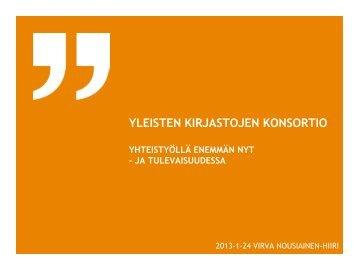 Yleisten kirjastojen konsortio - Kirjastot.fi