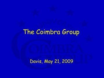 The Coimbra Group - Groupe Coimbra